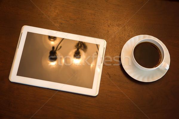 Klassiek koffie beker midden europese Stockfoto © Spectral