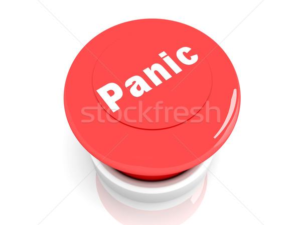 Panik düğme 3d illustration imzalamak yardım hizmet Stok fotoğraf © Spectral