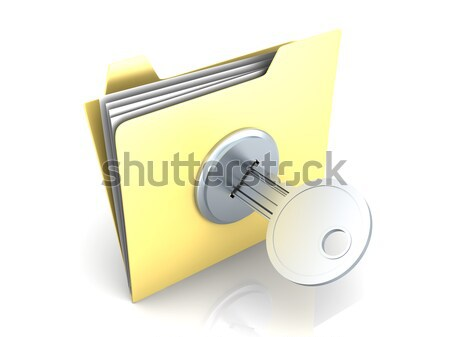 Stock photo: Protected folder