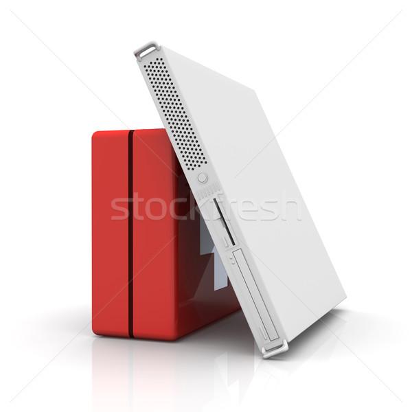 Server pronto soccorso 3D reso illustrazione internet Foto d'archivio © Spectral