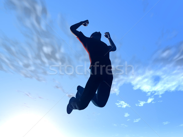 Jumping to the sky Stock photo © Spectral
