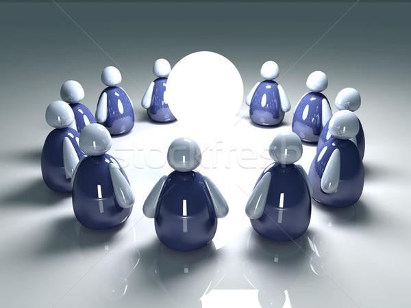 Ikon csapat 3d illusztráció ikonikus csapatmunka tömeg Stock fotó © Spectral