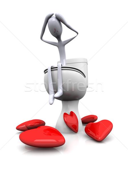 Lovesick in the restroom Stock photo © Spectral