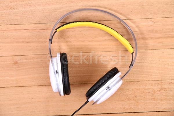 наушники полу музыку кабеля Gear Сток-фото © Spectral