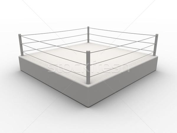 Boxing anello illustrazione 3d isolato bianco formazione Foto d'archivio © Spectral