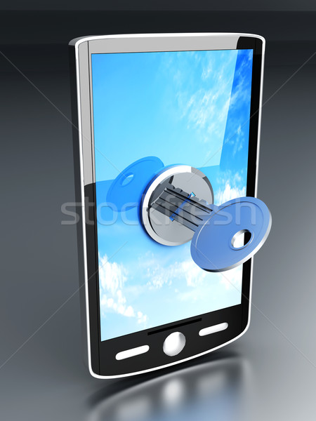 Stok fotoğraf: 3D · render · örnek · telefon