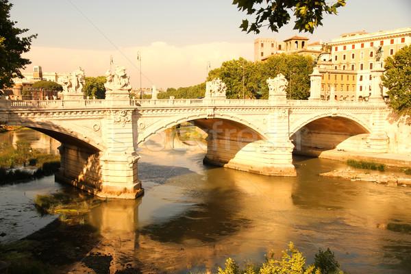 Ponte Vittorio Emanuele II in Rome Stock photo © Spectral