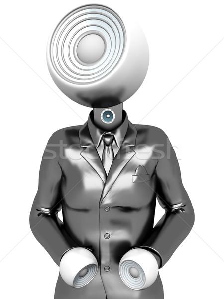Estéreo cabeça negócio Áudio em pé alto-falantes Foto stock © Spectral