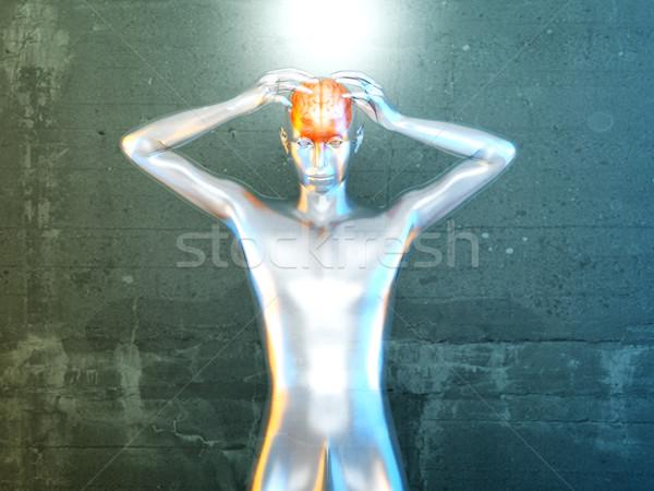 Szellemi erő kreativitás 3D renderelt illusztráció Stock fotó © Spectral