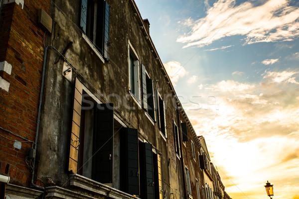 Zachód słońca Wenecja wygaśnięcia Włochy budynku morza Zdjęcia stock © Spectral
