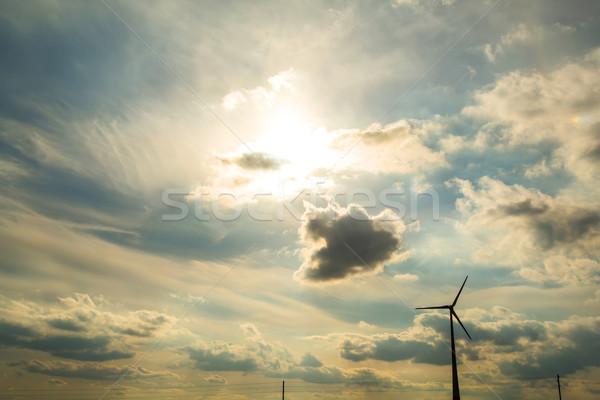 Wind energy under a dramatic sky	 Stock photo © Spectral