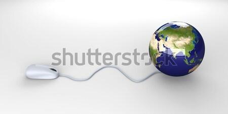 Welt 3D gerendert Illustration Ethernet Internet Stock foto © Spectral