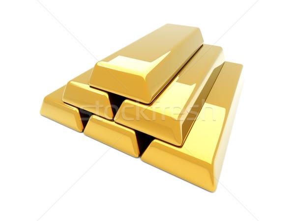 Gold Bar Pyramid Stock photo © Spectral