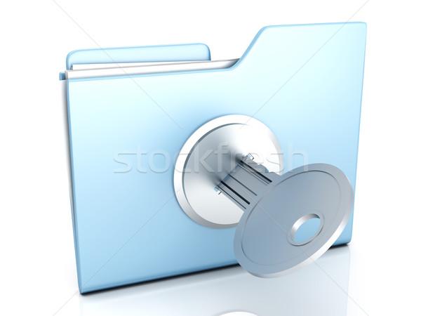Cartella bloccato illustrazione 3d business design tecnologia Foto d'archivio © Spectral