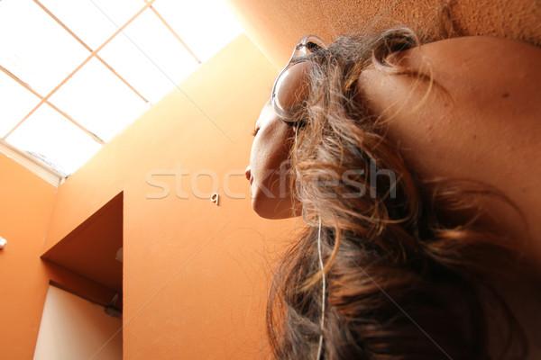 меланхолический лестница прослушивании музыку сидят Сток-фото © Spectral