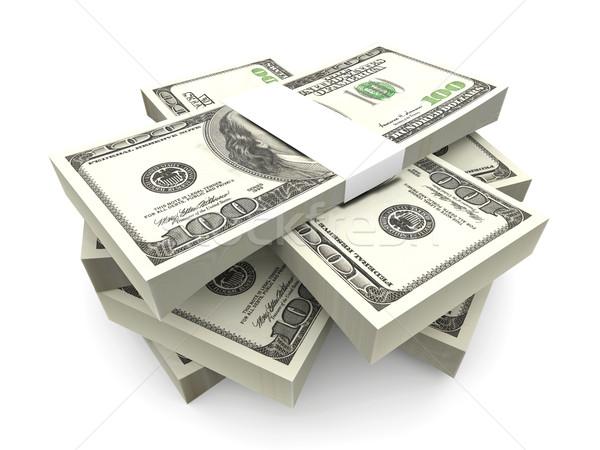 Dollaro note 3D reso illustrazione 100 Foto d'archivio © Spectral