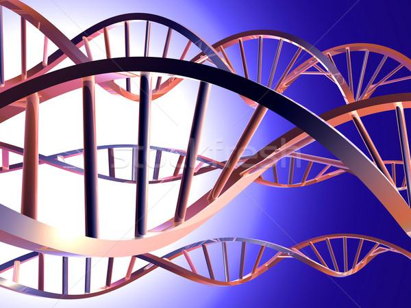 DNS 3D renderelt dupla spirál orvosi Stock fotó © Spectral