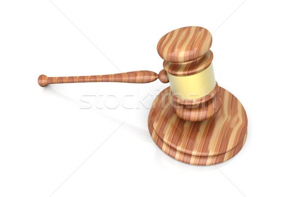 Veiling rechter hamer 2010 3D gerenderd Stockfoto © Spectral