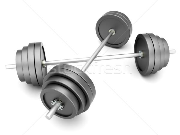 重み スポーツ ボディービル 3D レンダリング 実例 ストックフォト © Spectral