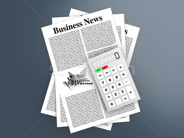 Stock photo: Analyzing business news