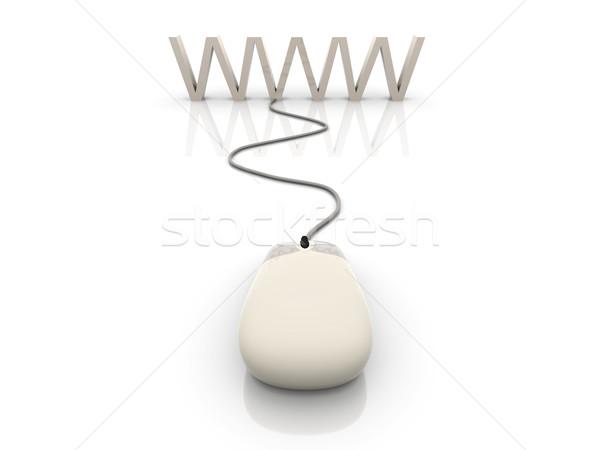Www 3D gerenderd illustratie verbinding internet Stockfoto © Spectral