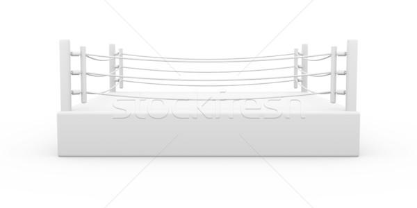 бокса кольца 3d иллюстрации изолированный белый подготовки Сток-фото © Spectral