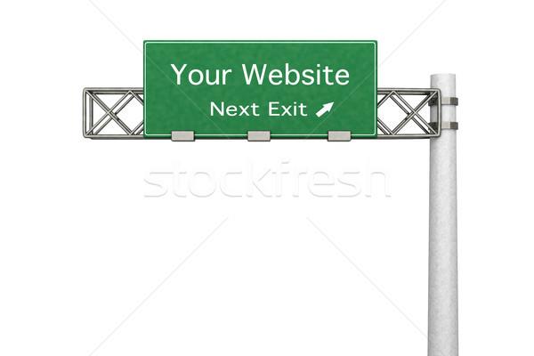 шоссе знак сайт 3D оказанный иллюстрация следующий Сток-фото © Spectral