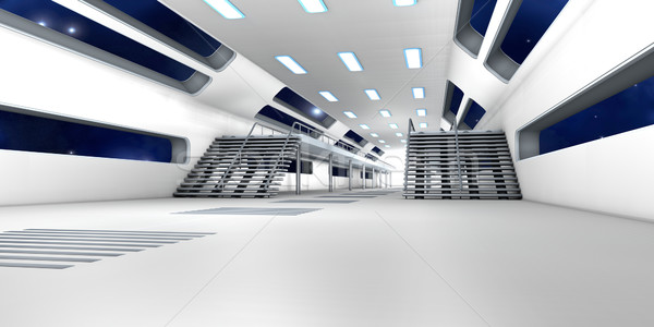 Espacio estación interior 3D arquitectura edificio Foto stock © Spectral