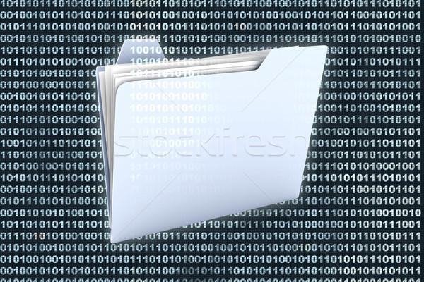 двоичный папке икона цифровой технологий фон Сток-фото © Spectral