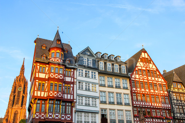 Historic center of Frankfurt Stock photo © Spectral