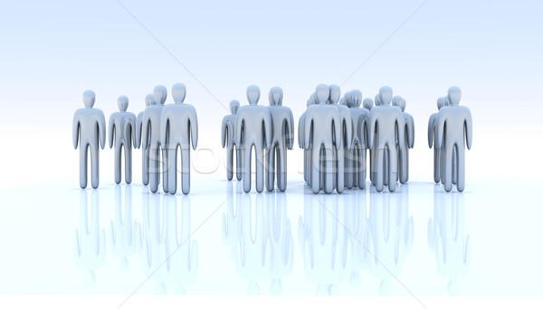 Anonim tömeg 3d illusztráció csoport munkás digitális Stock fotó © Spectral