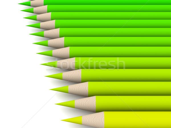 Crayon cor espectro verde 3D prestados Foto stock © Spectral