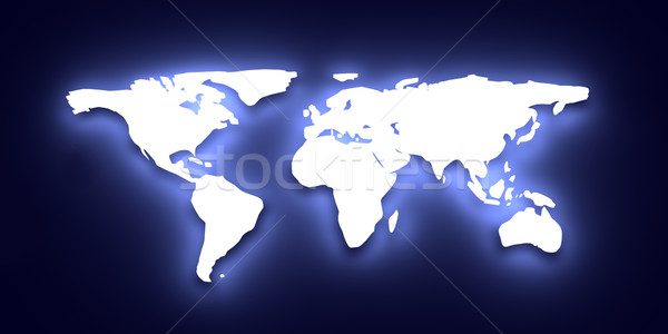 Carte du monde 3d illustration monde monde terre Photo stock © Spectral