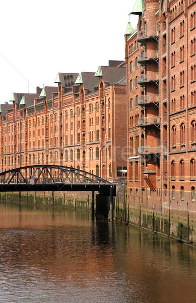 ハンブルク 有名な ドイツ ヨーロッパ オフィス 建設 ストックフォト © Spectral