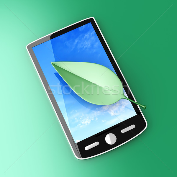 écologique smartphone 3D rendu illustration téléphone Photo stock © Spectral