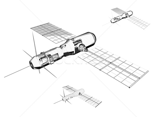 Satellite - Industrial illustration