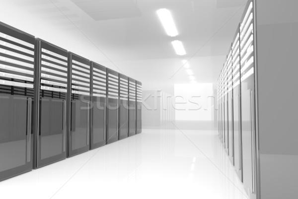Server Zimmer 3D-Darstellung Netzwerk Bauernhof Kommunikation Stock foto © Spectral