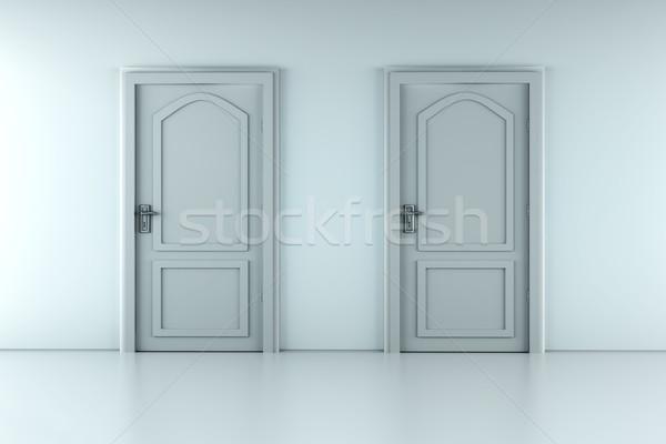 Stock photo: Two Doors