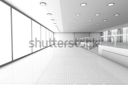 Pusty biuro architektoniczny 3D świadczonych ilustracja Zdjęcia stock © Spectral