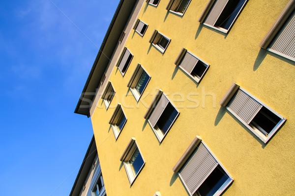 Moderne architectuur Duitsland Frankfurt hoofd- gebouw Stockfoto © Spectral