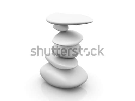 Dengelemek 3d illustration yalıtılmış beyaz kaya dijital Stok fotoğraf © Spectral