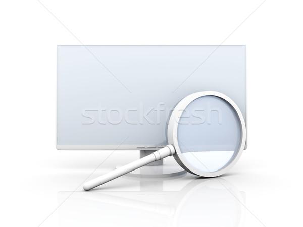 Digitale Zoek 3D gerenderd illustratie geïsoleerd Stockfoto © Spectral