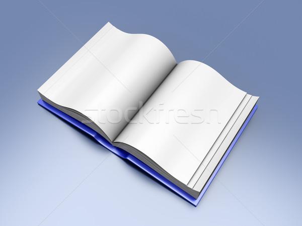 открытой книгой 3D оказанный иллюстрация бумаги фон Сток-фото © Spectral