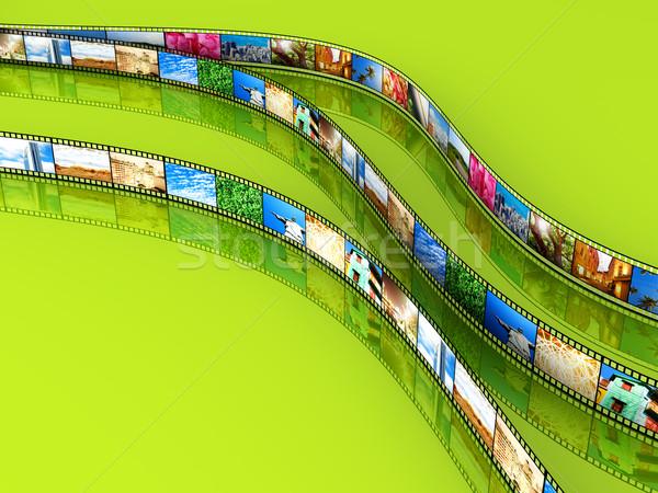 Filme foto 3D prestados ilustração retro Foto stock © Spectral