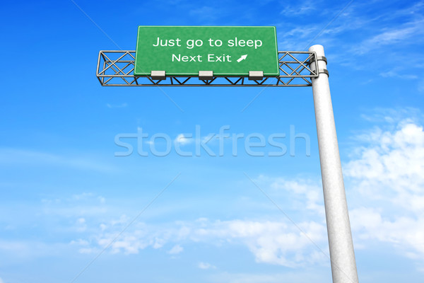 Highway Sign - Sleep Stock photo © Spectral