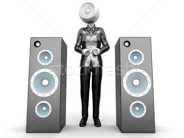 Stereo hoofd business audio permanente sprekers Stockfoto © Spectral