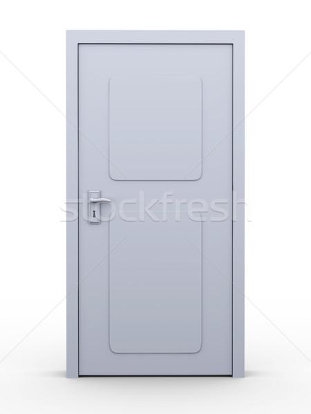 ドア 3D レンダリング 実例 孤立した 白 ストックフォト © Spectral
