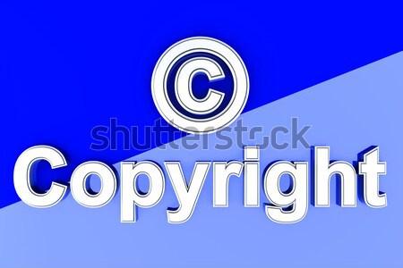 著作権 シンボル 3D レンダリング 実例 データ ストックフォト © Spectral