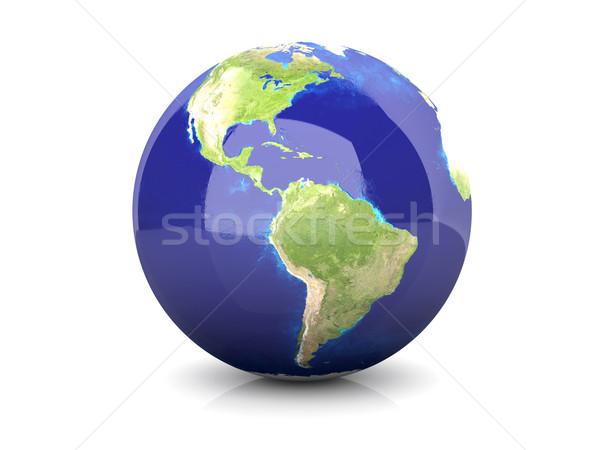 świecie ameryka południowa 3D świadczonych ilustracja świat Zdjęcia stock © Spectral