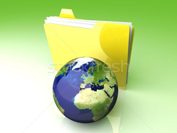 Mondial dossier Europe 3D rendu illustration Photo stock © Spectral